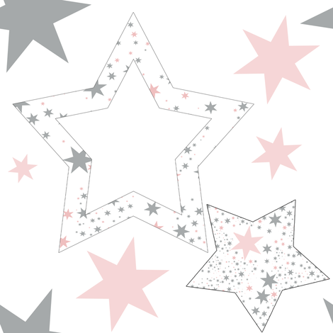 Stars for January large and darker fabric by karenharveycox on Spoonflower - custom fabric