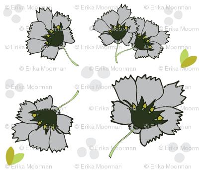 Spring blooms XL 14- misty gray