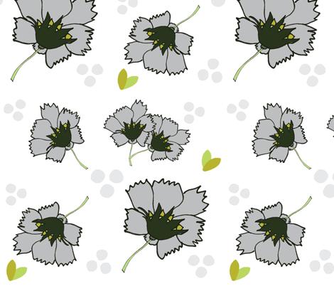 Spring blooms XL 14- misty gray fabric by drapestudio on Spoonflower - custom fabric