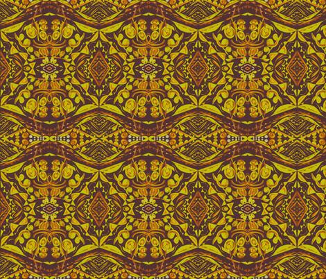 Diamonds, Gold and Dusty Earth fabric by rhondadesigns on Spoonflower - custom fabric