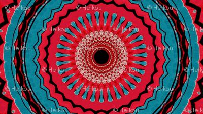 red blue tribal wheels
