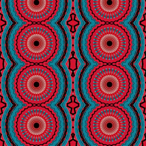 red blue tribal wheels fabric by heikou on Spoonflower - custom fabric
