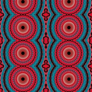 red blue tribal wheels
