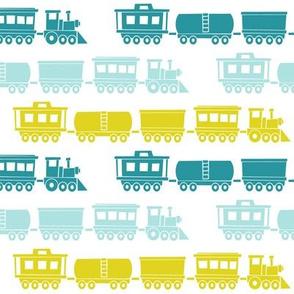 multi trains - aqua and citron