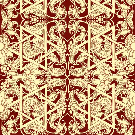Autumn Star fabric by edsel2084 on Spoonflower - custom fabric