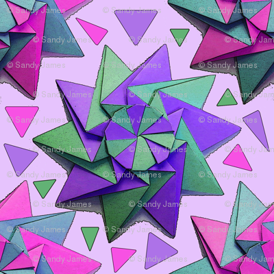 star origami pink 6x6