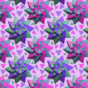 star origami pink 8x8