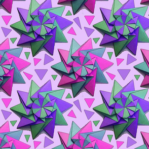 star origami pink 10x10