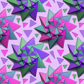 star origami pink 12x12