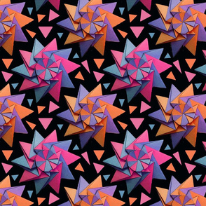 star origami black 8x8
