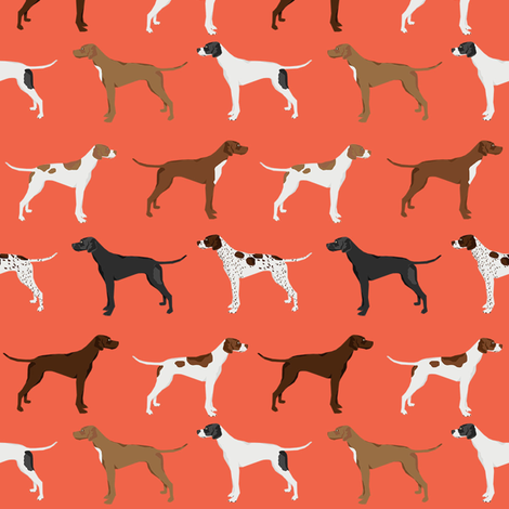 english pointers fabric - dog breed coat colors - orange fabric by petfriendly on Spoonflower - custom fabric