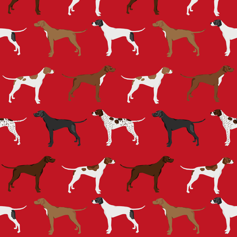 english pointers fabric - dog breed coat colors - red fabric by petfriendly on Spoonflower - custom fabric
