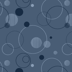 Blue Retro Bubble Pattern