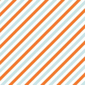 Easter Stripe Blue and Orange Pattern
