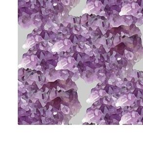 Stylized amethyst geode