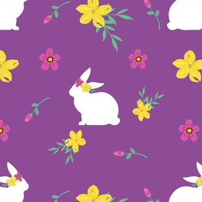 Purple Easter Bunnies