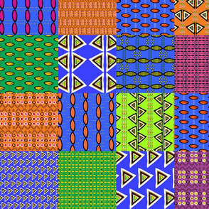 Into Africa - patchwork large