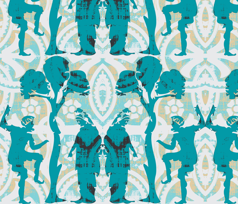 Dionysus and Minerva fabric by amy_frances_designs on Spoonflower - custom fabric