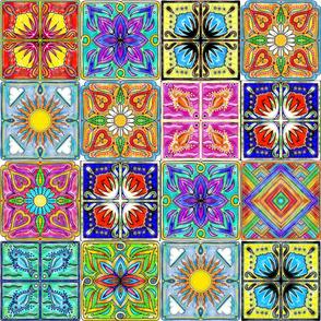 oversized Spanish tiles