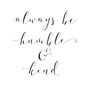 humble and kind panel 18 inch