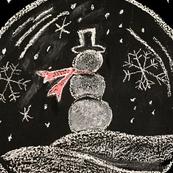 snowmen globe panel