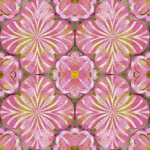 Mottled Pinks and Yellows Inspired by Spanish Tile
