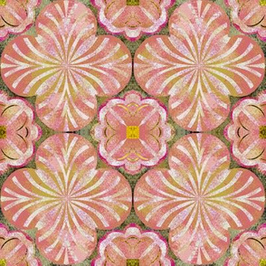 Mottled Peaches and Yellows Inspired by Spanish Tile