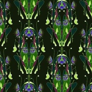 Passion Flower Scarab in Viridian