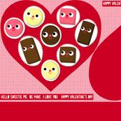 Valentine Chocolate Box Pillow