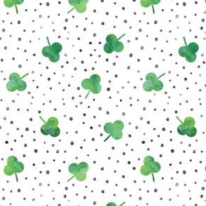 watercolor shamrock w/ black dots