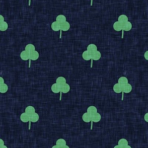 simple shamrock on blue
