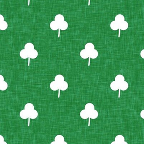 simple shamrock on green