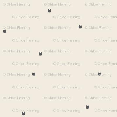 Ellie's Friends_Kitty Pattern Filled_Ivory x Gray