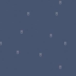 Ellie's Friends_Bunny Pattern Line_Blue x Ivory