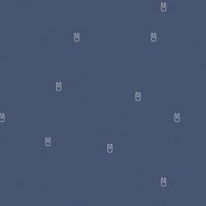 Ellie's Friends_Bunny Pattern Line_Blue x White