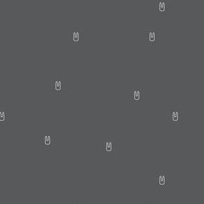 Ellie's Friends_Bunny Pattern Line_Gray x White