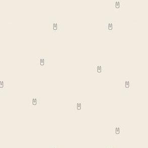 Ellie's Friends_Bunny Pattern Line_Ivory x Gray