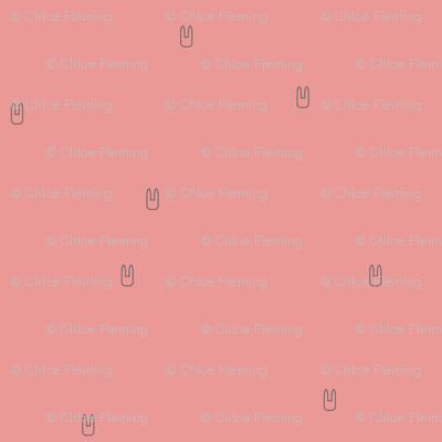 Ellie's Friends_Bunny Pattern Line_Pink x Gray