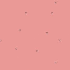 Ellie's Friends_Kitty Pattern Line_Pink x Gray