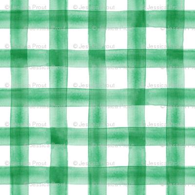 watercolor plaid - green