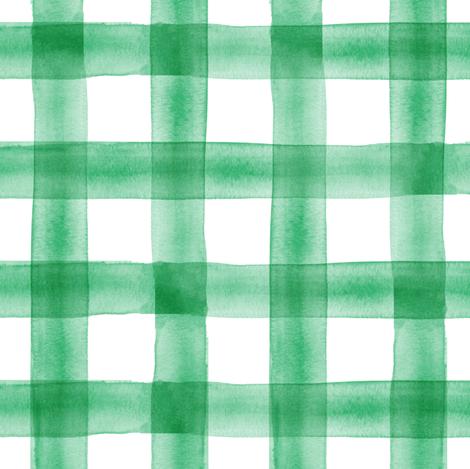 watercolor plaid - green fabric by littlearrowdesign on Spoonflower - custom fabric