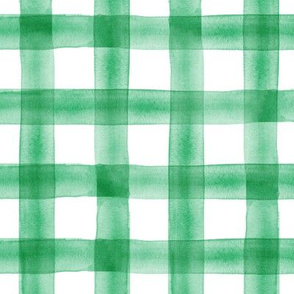 watercolor plaid - green
