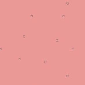 Ellie's Friends_Teddy Pattern Line_Gray x Baby Pink