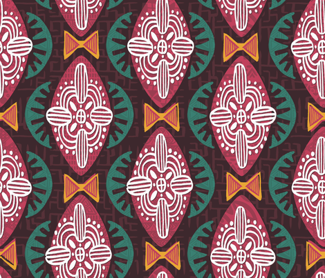 Mod Africa fabric by artfully_minded on Spoonflower - custom fabric