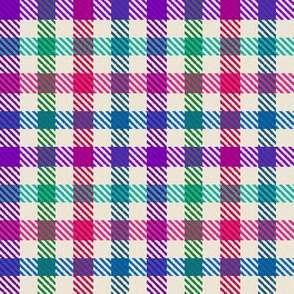 8 Color Asymmetrical Plaid in Candy Colors