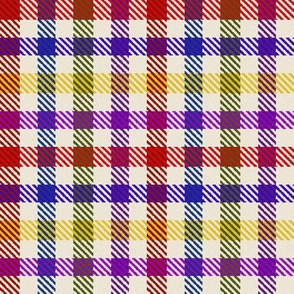 8 Color Asymmetrical Plaid in Bright Colors
