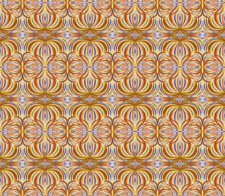 Autumnal Leaf Masks on Bleached Sand fabric by rhondadesigns on Spoonflower - custom fabric