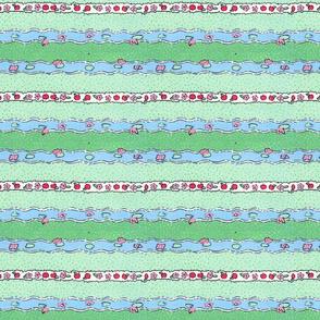 Kitty's garden stripe