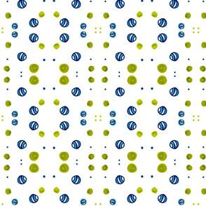 Tiling flora Dots