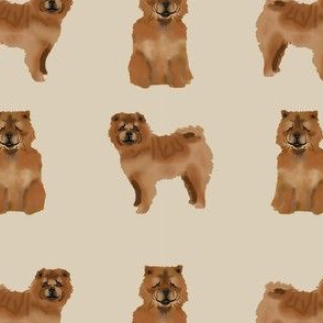chow chow simple  dog breed fabric tan